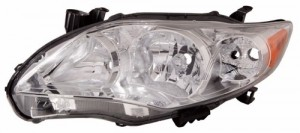 2011 -  2013 Toyota Corolla Front Headlight Assembly Replacement Housing / Lens / Cover - Left (Driver) Side