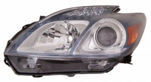 2012 - 2015 Toyota Prius Plug-In Front Headlight Assembly Replacement Housing / Lens / Cover - Left (Driver) Side