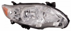 2011 -  2013 Toyota Corolla Front Headlight Assembly Replacement Housing / Lens / Cover - Right (Passenger) Side