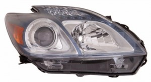 2012 - 2015 Toyota Prius Plug-In Front Headlight Assembly Replacement Housing / Lens / Cover - Right (Passenger) Side