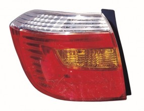 2008 -  2010 Toyota Highlander Rear Tail Light Assembly Replacement / Lens / Cover - Left (Driver) Side - (Base Model + Base Premium)