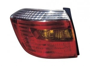 2008 - 2010 Toyota Highlander Rear Tail Light Assembly Replacement / Lens / Cover - Left (Driver) Side - (Sport + Sport Premium)