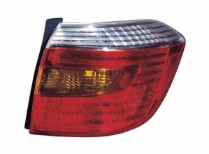2010 - 2010 Toyota Highlander Rear Tail Light Assembly Replacement / Lens / Cover - Right (Passenger) Side - (Sport)