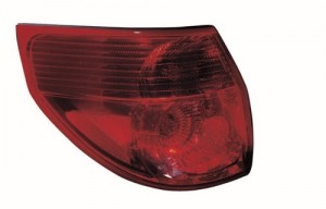 2006 - 2010 Toyota Sienna Rear Tail Light Assembly Replacement / Lens / Cover - Left (Driver) Side Outer
