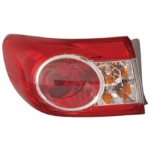 2011 -  2013 Toyota Corolla Rear Tail Light Assembly Replacement / Lens / Cover - Left (Driver) Side Outer