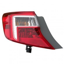 2012 -  2014 Toyota Camry Rear Tail Light Assembly Replacement / Lens / Cover - Left (Driver) Side Outer - (Gas Hybrid)