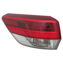 2017 - 2017 Toyota Highlander Tail Light Rear Lamp - Left (Driver)