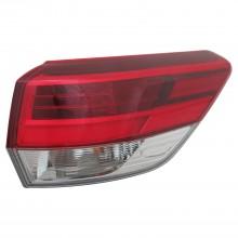 2017 - 2017 Toyota Highlander Tail Light Rear Lamp - Right (Passenger)
