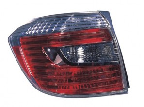 2008 -  2010 Toyota Highlander Tail Light Housing (NSF Certified) - Left (Driver) Side - (Hybrid Gas Hybrid + Hybrid Limited Gas Hybrid) Replacement