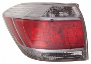 2011 -  2013 Toyota Highlander Rear Tail Light Assembly Replacement Housing / Lens / Cover - Left (Driver) Side - (Gas Hybrid)