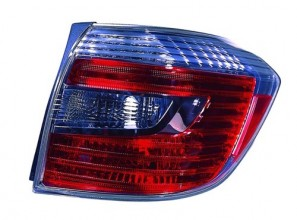 2008 -  2010 Toyota Highlander Tail Light Housing (NSF Certified) - Right (Passenger) Side - (Hybrid Gas Hybrid + Hybrid Limited Gas Hybrid) Replacement